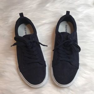 Old Navy Boys Navy Blue Sneakers Sz 3